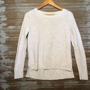 LOFT Oatmeal Knit Crewneck Sweater Size S